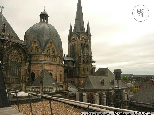 Aachen-City: Schick möbl. 1,5 Zi-Whng. mit Dachterrasse in bester Lage am Dom
