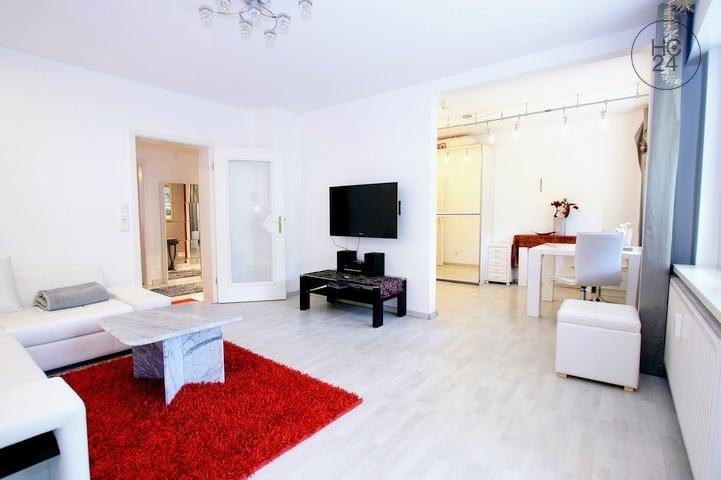 位于KA-Waldstadt的带2个房间的配家具公寓
