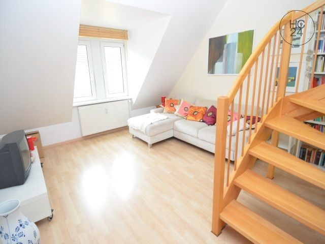 3 room duplex apartment with balcony and daylight bathroom in Wiesbaden-Westend