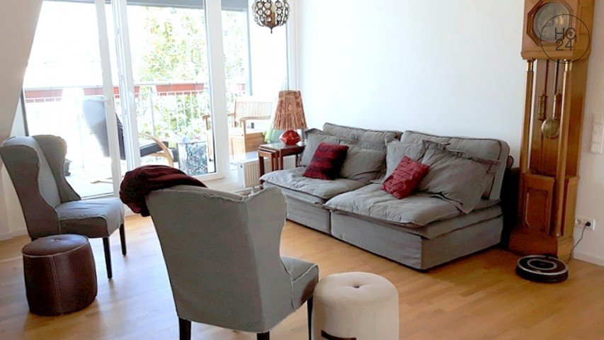Furnished 2-room apartment with large balcony and Internet in Mainz
